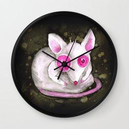 Albino rat Wall Clock