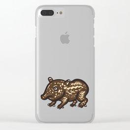 Baby Malayan tapir Clear iPhone Case