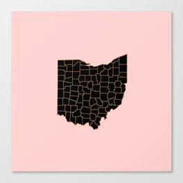 Ohio map Canvas Print
