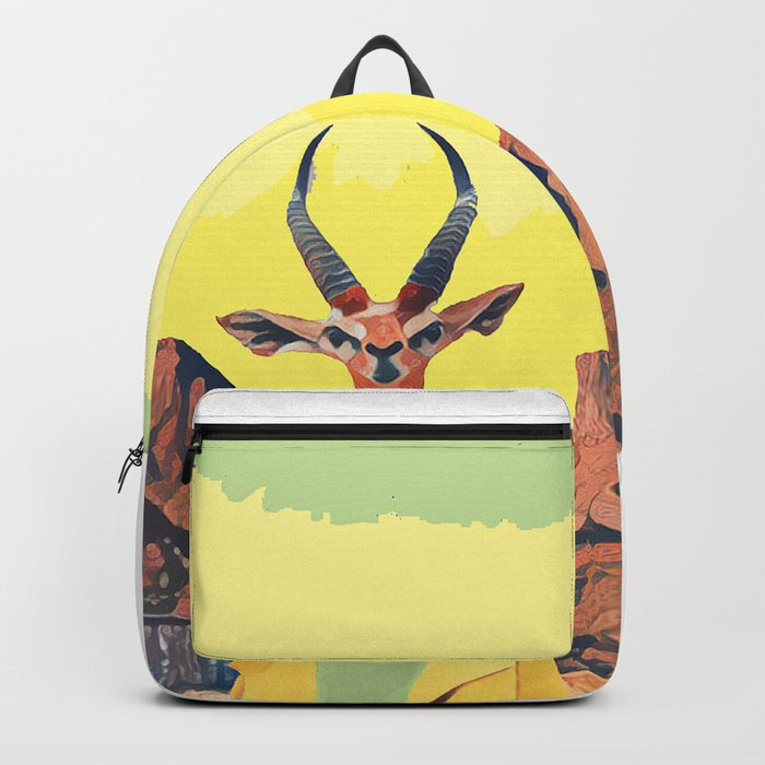 Gazelle and the cabin Backpack