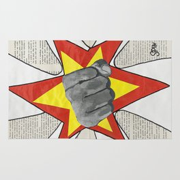 Super Awesome Fist Bumping! Rug