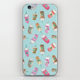 Coffee Crazy Toss in Blueberry iPhone Skin