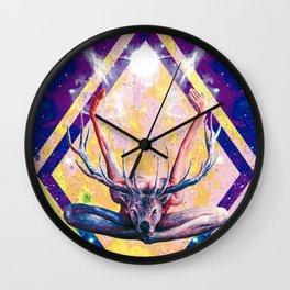 Autre visage du Yoga au Cerf Wall Clock
