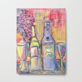 Wine for my Love Metal Print