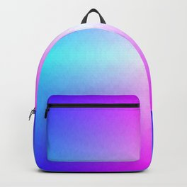 Four color blue, purple, pink, white ombre Backpack