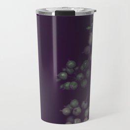 Sage Green Seeds on Deep Plum Travel Mug