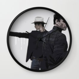 Raylan and Boyd 4 Wall Clock