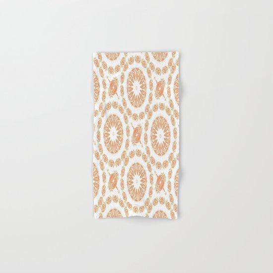 Citrine Mandala Tile Hand & Bath Towel