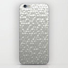 White hexagons iPhone Skin