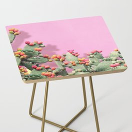 Prickly Pear plants on Pink Side Table