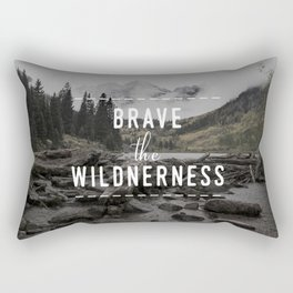 Brave the Wilderness Rectangular Pillow