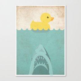 Jaws Rubber Duck Quack  Canvas Print