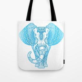 Teal Blue Elephant Tote Bag