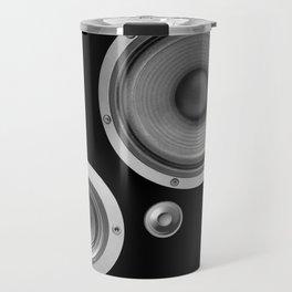 Subwoofer Speaker on black Travel Mug
