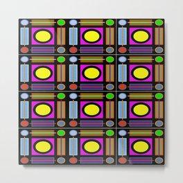 Art Deco Grid Metal Print