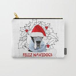 Feliz Navidog Carry-All Pouch