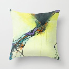 Glass and Smoke  - Square Abstract Expressionism Paintng Throw Pillow
