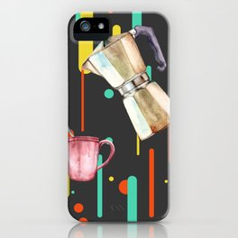 Coffee Pop Art Collage Good Morning iPhone Case
