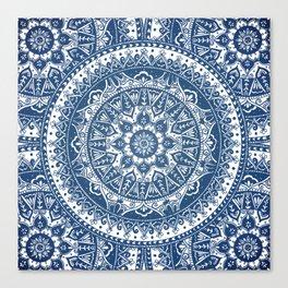 Blue Mandala Pattern Canvas Print