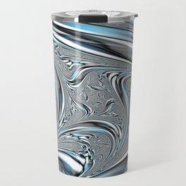Liquid Metal Blobs Travel Mug
