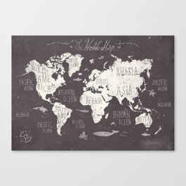 Typography australia canvas prints society6 the world map canvas print gumiabroncs Gallery