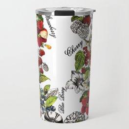 Botanical Fruit Print Travel Mug