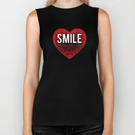 02. Smile though your heart is aching Biker Tank