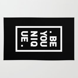 YOU AND YOURSELF (BLK) Rug