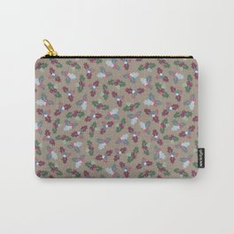 Holly Christmas Pattern Carry-All Pouch