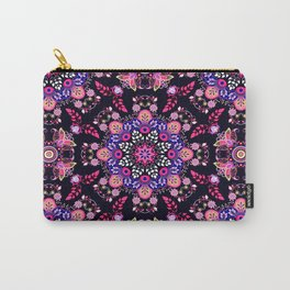 Boho Floral Pattern Carry-All Pouch