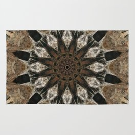 Mandala black Star Rug