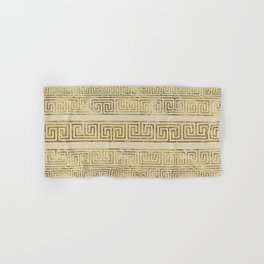 Greek Meander Pattern - Greek Key Ornament Hand & Bath Towel