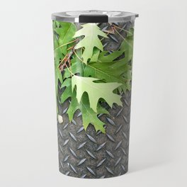 Oak Leaves on Metal Travel Mug