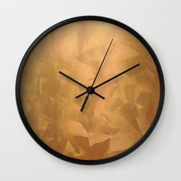 Brushed Copper Metallic - Beautiful - Rustic Glam - Fancy Faux Finishes - Metallic Paint Wall Clock