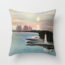 The Islands Of The Bahamas - Nassau Paradise Island Throw Pillow