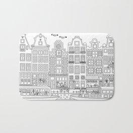 Amsterdam Line Art Bath Mat