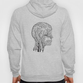 Head Profile Branches - Black Hoody