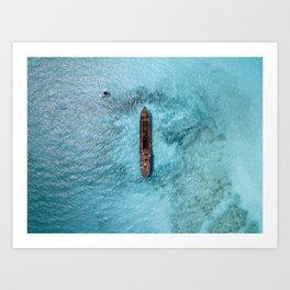 Shipwrecked II Art Print