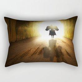 Angel In A Tunnel Of Light Rectangular Pillow