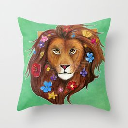 Lovely Lion Throw Pillow
