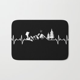 My Heart Beats For Nature Bath Mat