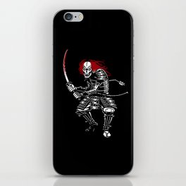 Zombie Samurai (White version) iPhone Skin