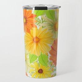 Daisy Collage Travel Mug