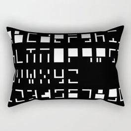 Alphanumerique Rectangular Pillow