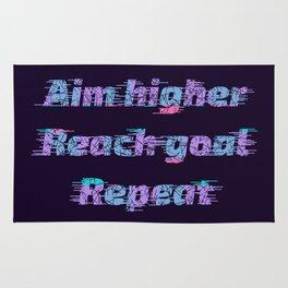 Aim Higher, Reach Goal, Repeat Rug