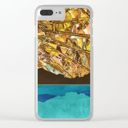 Fractured Sky Clear iPhone Case