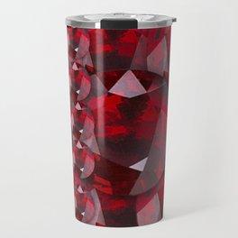 MODERN ART RED GARNET GEMS JANUARY BIRTHSTONE Travel Mug