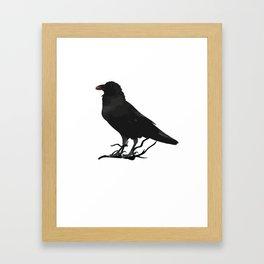 Black Gothic Crow Raven - EAP Nevermore Gift Framed Art Print