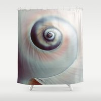 seashell Shower Curtains featuring Seashell by elle moss