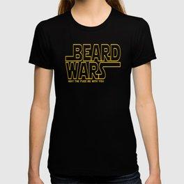 Beard Wars Funny Sci-Fi Design T-shirt